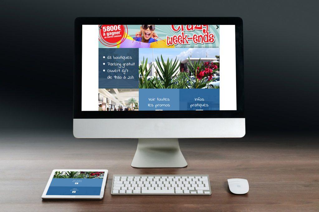 Site web personnalisé et responsive Auchan Pérols