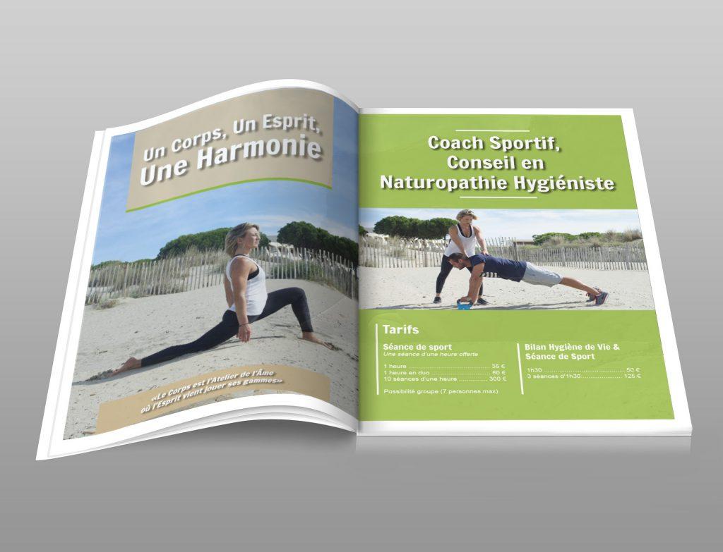 Création brochure commerciale Coach sportif