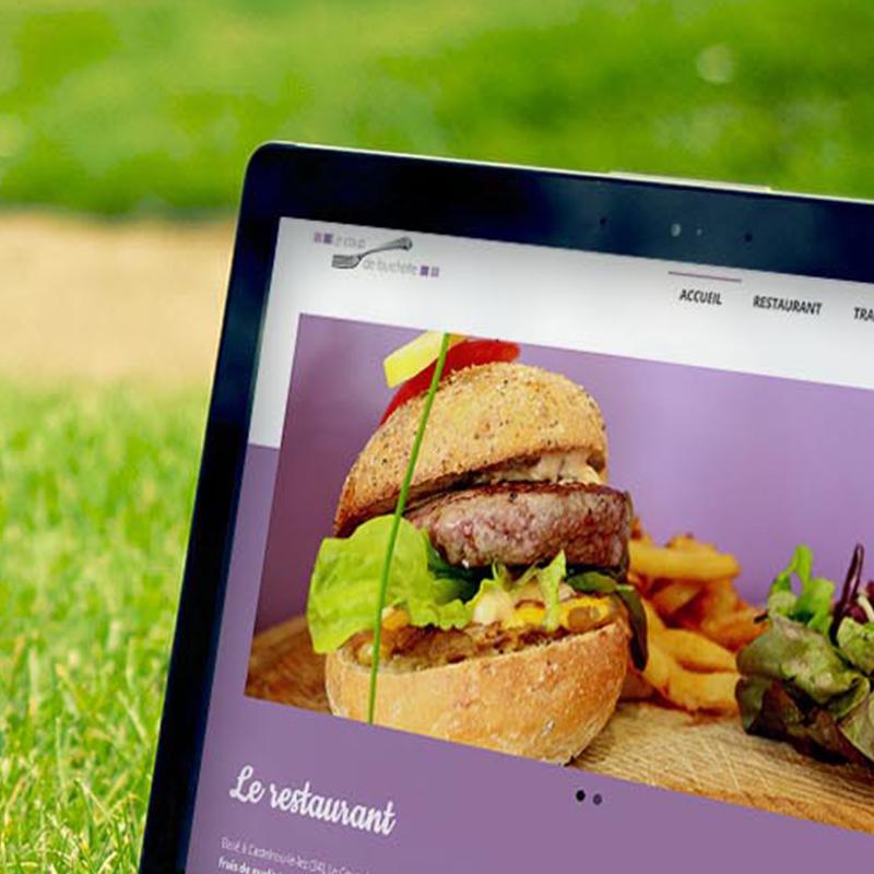 Site internet vitrine restaurant Castelnau le Lez