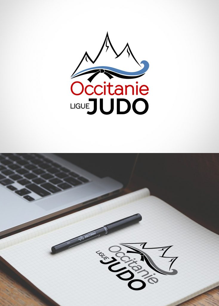 Création logo ligue occitanie judo