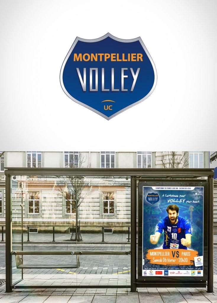 Affichage et graphisme Montpellier Volley