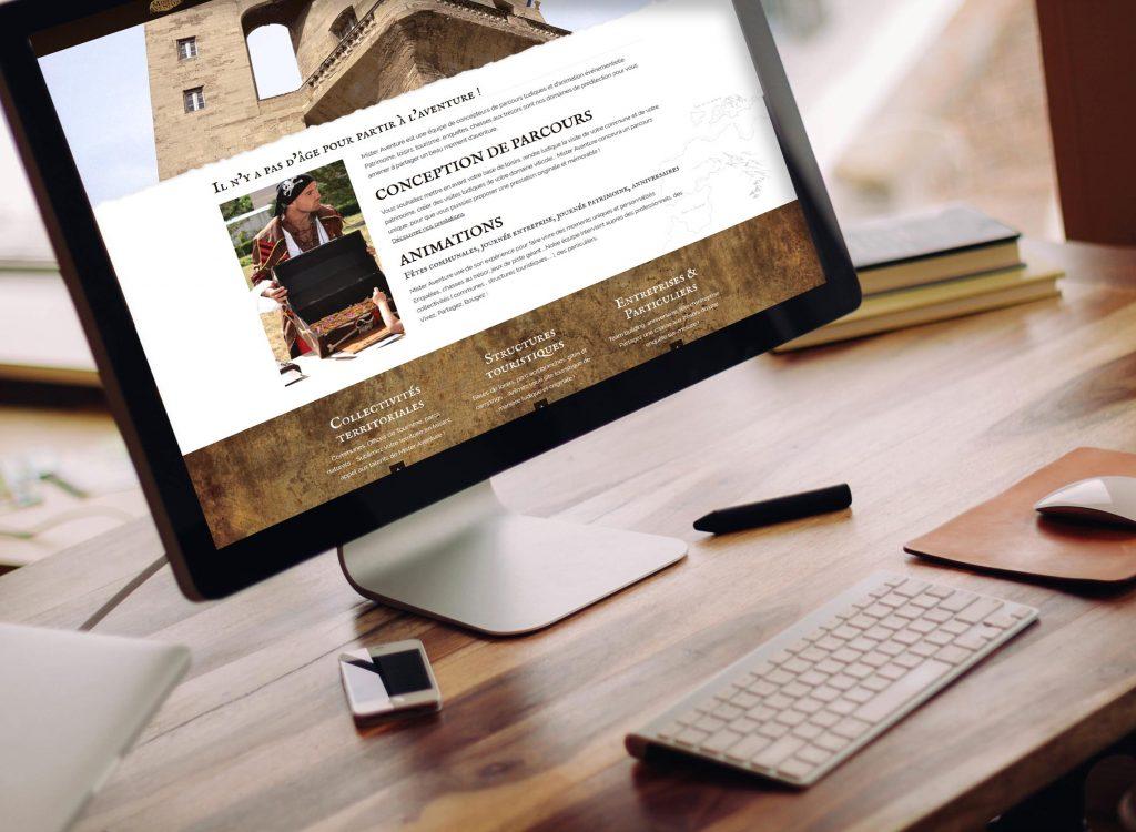 Site internet personnalisé Mister Aventure
