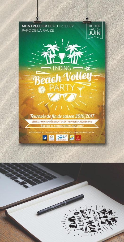 Logo et charte graphique événement beach volley