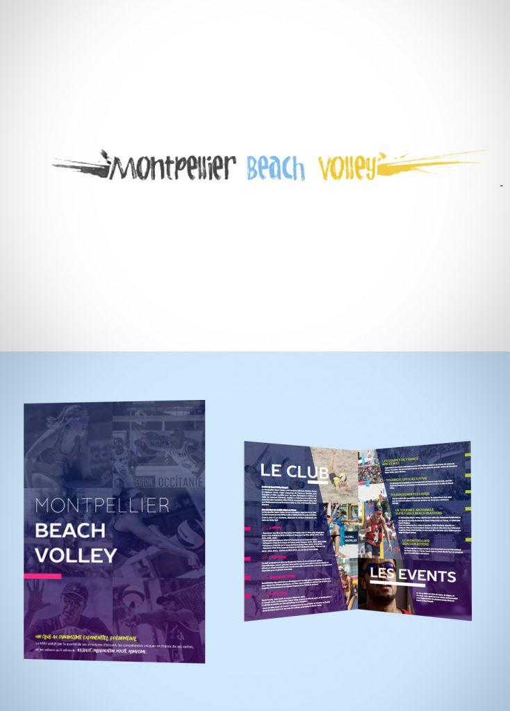 Plaquette commerciale Montpellier Beach Volley