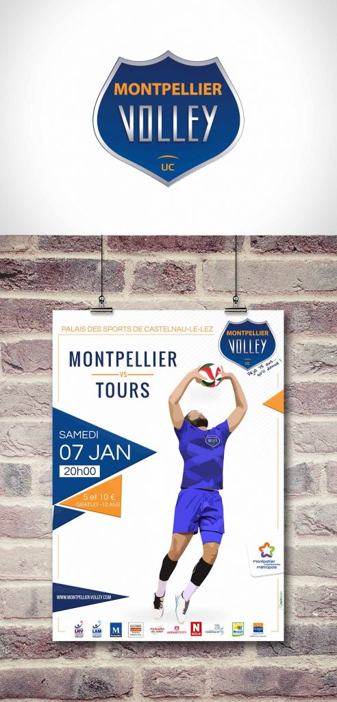Affichage Montpellier Volley