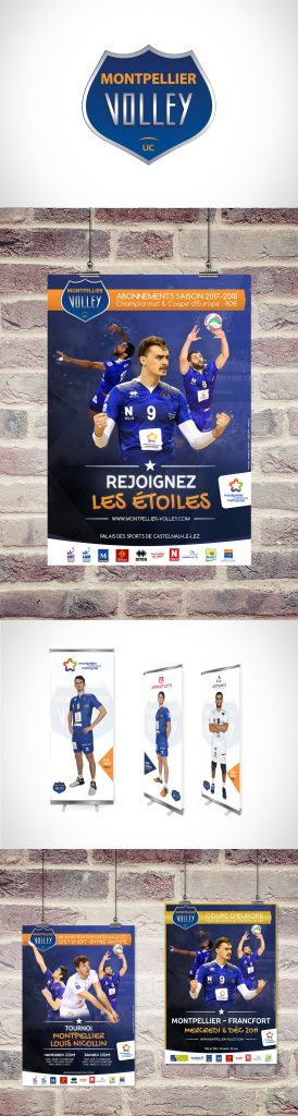 Affiches et flyers Montpellier Volley