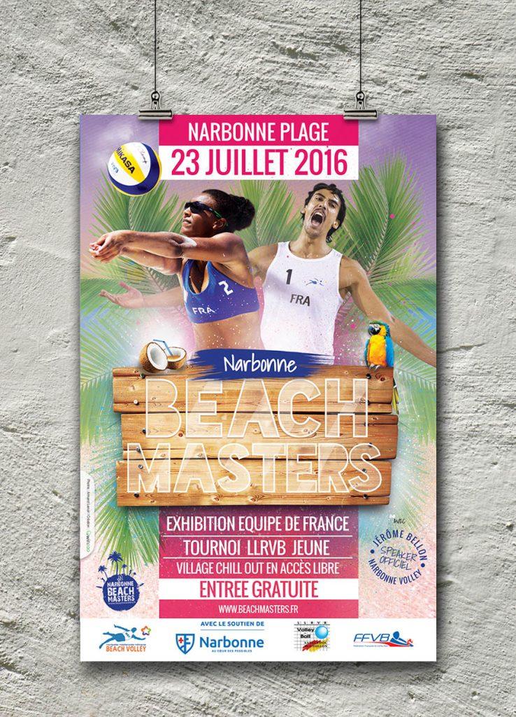 Graphisme événement beach volley à Narbonne