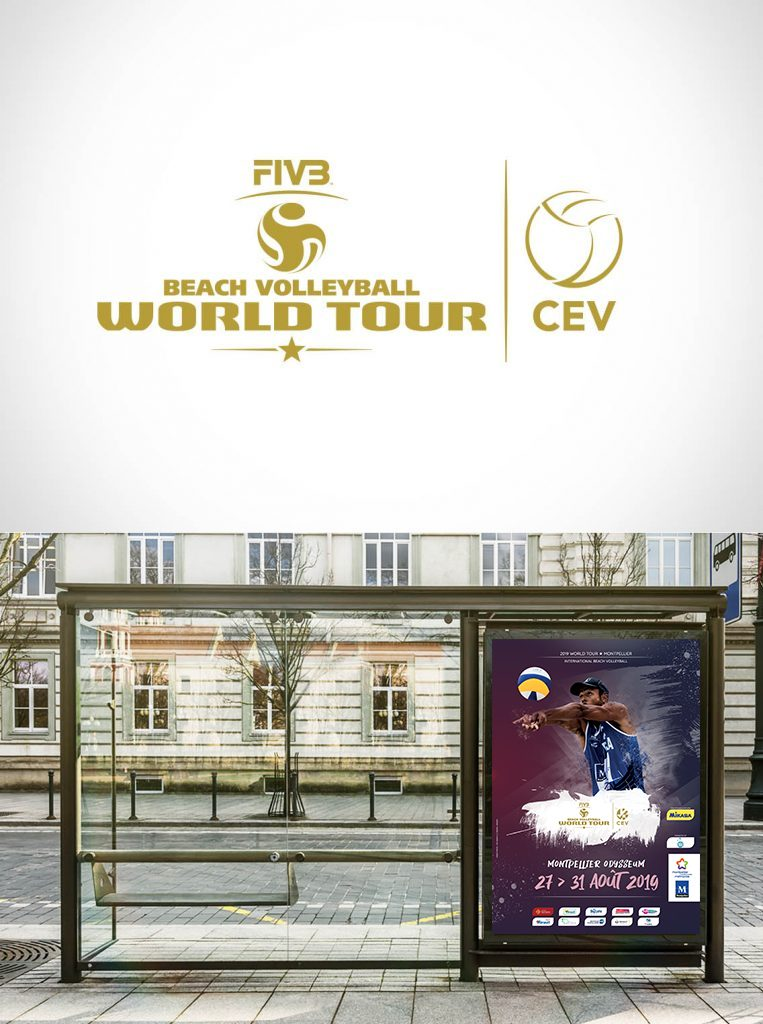 Affiche World Tour Beach Volley