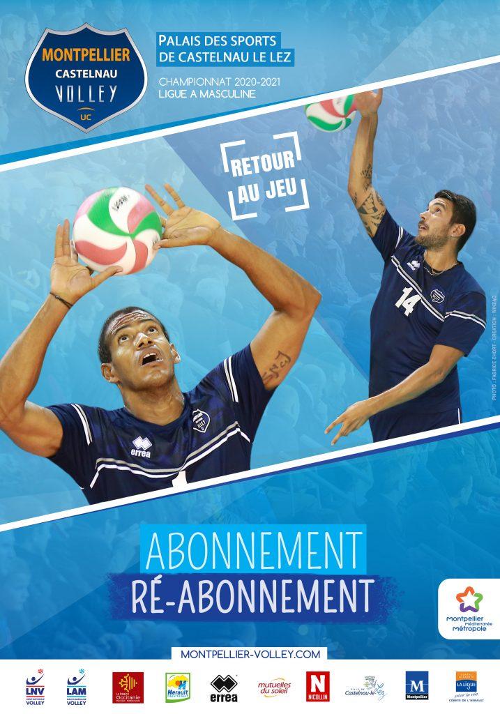 Affichage Montpellier Volley saison 2020-2021