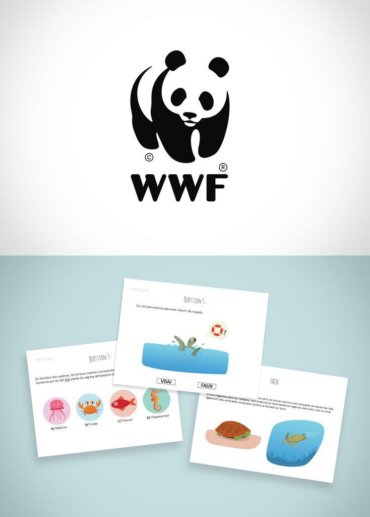 conception du graphisme questionnaire WWF