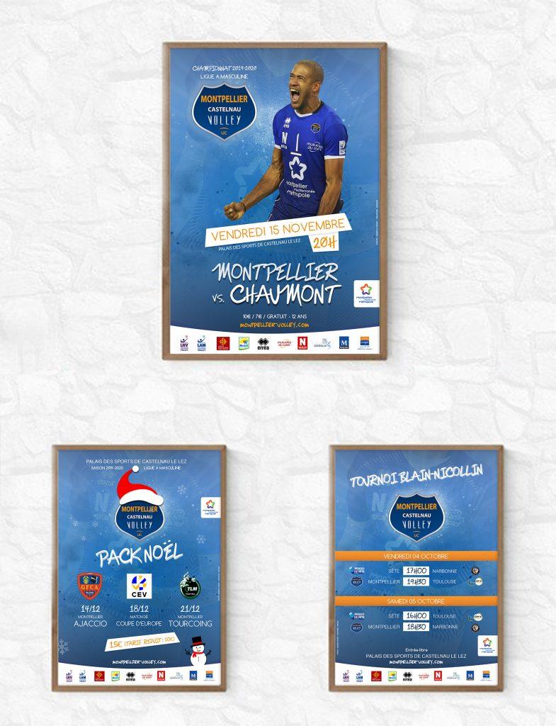 Charte graphique du Montpellier Volley 2019-2020