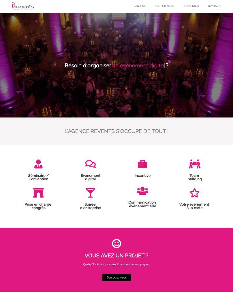 revents création site web 2
